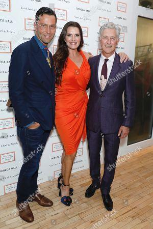 Greg Unis, Brooke Shields and David Kratz, President of the New York Academy of Art