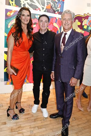 Brooke Shields, KAWS, artist and honoree of the night and David Kratz, President of the New York Academy of Art