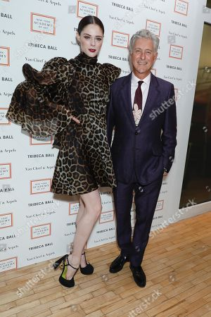 Coco Rocha and David Kratz, President of the New York Academy of Art