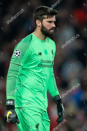 Liverpool's Alison Becker 9th April 2019 , Anfield Stadium, Liverpool, England;  EUFA Champions League Quarter Final, First Leg, Liverpool FC vs FC Porto  Credit: Terry Donnelly/News Images