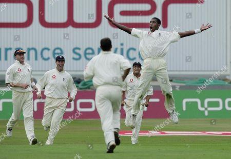 England V Australia 3rd Test Match At Trent Bridge . Alec Tudor Celebrates The Wicket Of Mark Waugh