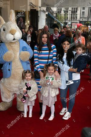 Imogen Thomas, Siera Aleira Horsley, Ariana Siena Horsley, Cara de la Hoyde and Freddie-George De La Hoyde Massey