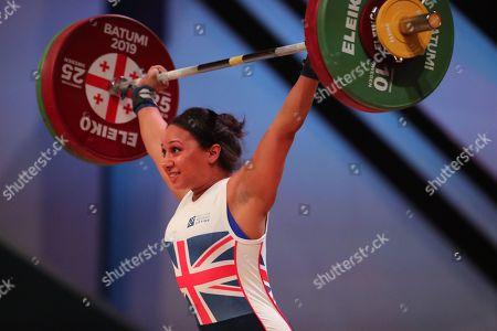 Editorial image of Weightlifting European Championships, Batumi, Georgia - 09 Apr 2019
