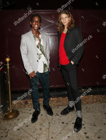 Editorial photo of Shaka Smith and Haralambi Tahov out and about, Los Angeles, USA - 08 Apr 2019