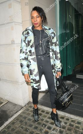 Editorial picture of Sonique out and about,  Haymarket, London, UK - 09 Apr 2019