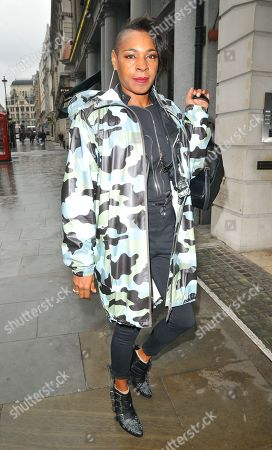 Editorial image of Sonique out and about,  Haymarket, London, UK - 09 Apr 2019