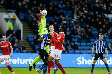 Luke Steele of Nottingham Forest collects a cross during the EFL Sky Bet Championship match between Sheffield Wednesday and Nottingham Forest at Hillsborough, Sheffield
