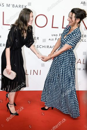 Alexandra Maria Lara (L) and German actress Catrin Striebeck pose during the world premiere of the movie 'The Collini Case' (Der Fall Collini) at the Zoo Palast cinema in Berlin, Germany, 09 April 2019. The movie screens from 18 April 2019 in German cinemas.