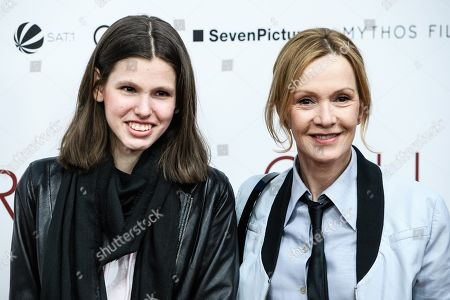 Stock Picture of Katja Flint (R) and Lisa Mundt pose during the world premiere of the movie 'The Collini Case' (Der Fall Collini) at the Zoo Palast cinema in Berlin, Germany, 09 April 2019. The movie screens from 18 April 2019 in German cinemas.