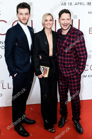 German actor Jannis Niewoehner, German actress Pia Stutzenstein and German director Marco Kreuzpaintner pose during the world premiere of the movie 'The Collini Case' (Der Fall Collini) at the Zoo Palast cinema in Berlin, Germany, 09 April 2019. The movie screens from 18 April 2019 in German cinemas.