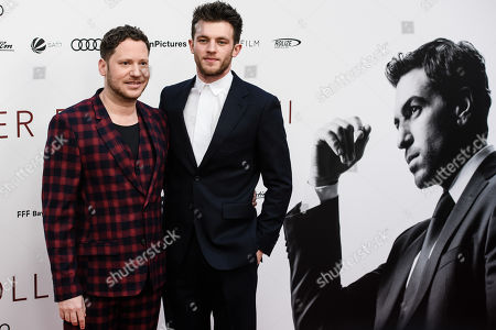 Marco Kreuzpaintner (L) and German actor Jannis Niewoehner pose during the world premiere of the movie 'The Collini Case' (Der Fall Collini) at the Zoo Palast cinema in Berlin, Germany, 09 April 2019. The movie screens from 18 April 2019 in German cinemas.