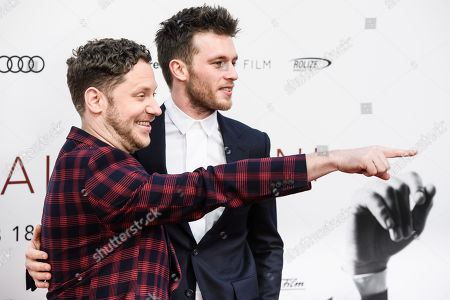 Stock Picture of Marco Kreuzpaintner (L) and German actor Jannis Niewoehner pose during the world premiere of the movie 'The Collini Case' (Der Fall Collini) at the Zoo Palast cinema in Berlin, Germany, 09 April 2019. The movie screens from 18 April 2019 in German cinemas.