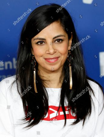 German actress Collien Ulmen-Fernandes poses on the red carpet of the 'Gamesweekberlin' 2019 awards ceremony in Berlin, Germany, 09 April 2019. The fair is a seven-day event for games business and development in the German capital where representatives from the industry and games enthusiasts take part.