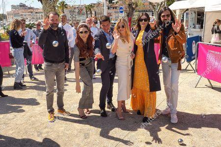 Stock Picture of Baran Odar, Miriam Leone, David Lisnard, Katheryn Winnick, Emma Mackey and Robin Coudert
