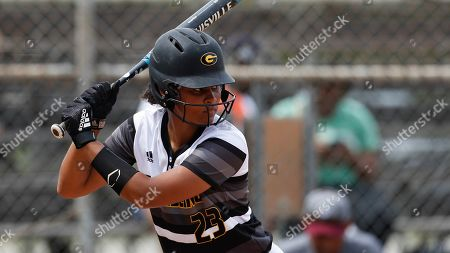 Tyler Robinson (23) at bat during an Grambling State University at Texas Southern University NCAA softball game on in Houston
