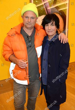 Juergen Teller and Sharleen Spiteri attend the private view at Bonhams.