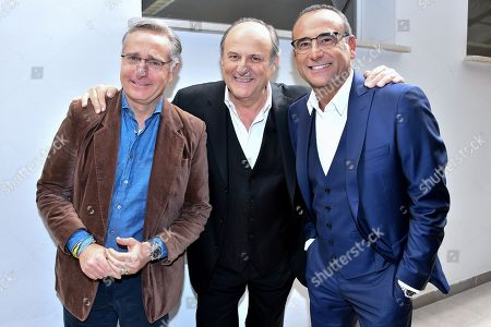 Paolo Bonolis, Gerry Scotti and Carlo Conti