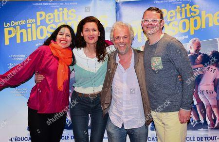 Stock Photo of Nora Gauthier, Cecile Denjean, Frederic Lenoir, Frederic Gaubert