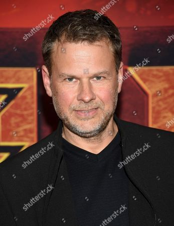 """Joel Harlow attends a special screening of """"Hellboy"""" at AMC Lincoln Square, in New York"""