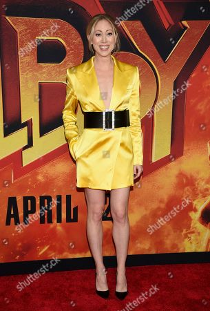 "Paten Hughes attends a special screening of ""Hellboy"" at AMC Lincoln Square, in New York"