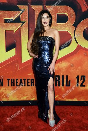 "Saye Yabandeh attends a special screening of ""Hellboy"" at AMC Lincoln Square, in New York"