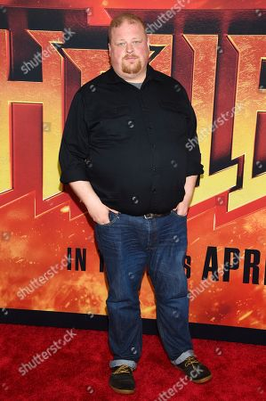 """Stock Image of Joel Marsh Garland attends a special screening of """"Hellboy"""" at AMC Lincoln Square, in New York"""