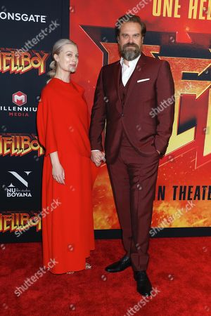 Stock Image of Alison Sudol and David Harbour