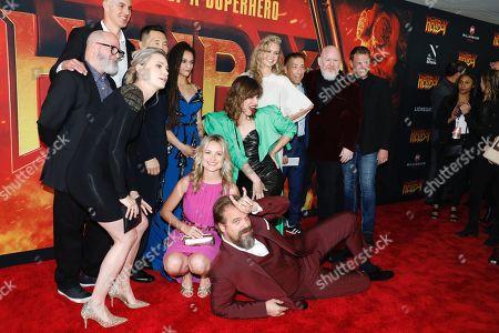 Cast of Hellboy - Kristina Klebe, Sasha Lane, Milla Jovovich, Penelope Mitchell, and David Harbour