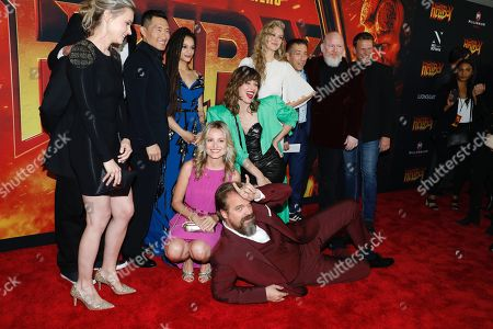 Cast of Hellboy - Kristina Klebe, Daniel Dae Kim, Sasha Lane, Milla Jovovich, Penelope Mitchell, and David Harbour