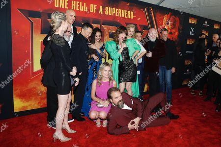 Stock Image of Cast of Hellboy - Kristina Klebe, Daniel Dae Kim, Sasha Lane, Milla Jovovich, Penelope Mitchell, and David Harbour