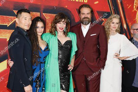 Daniel Dae Kim, Sasha Lane, Milla Jovovich, David Harbour and Penelope Mitchell