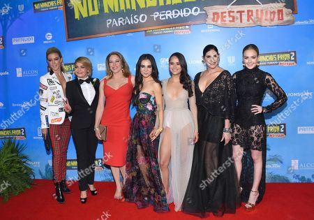 (L-R) Fernanda Castillo, Itati Cantoral, Andrea Noli, Martha Higareda, Karen Furlong, Raquel Garza, Regina Pavon