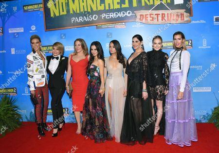 Stock Picture of (L-R) Fernanda Castillo, Itati Cantoral, Andrea Noli, Martha Higareda, Karen Furlong, Raquel Garza, Regina Pavon, Rocio Garcia