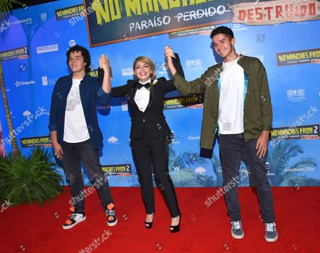 Stock Picture of Itati Cantoral and her sons
