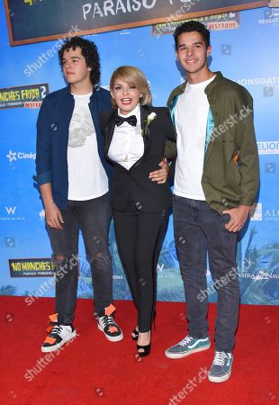 Stock Image of Itati Cantoral and her sons