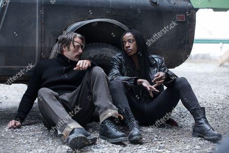 Mads Mikkelsen as Duncan Vizla and Ayisha Issa as Jazmin
