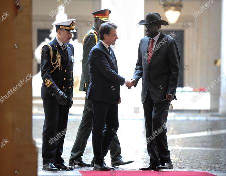 Italian Prime Minister Giuseppe Conte, President of South Sudan Salva Kiir Mayardit