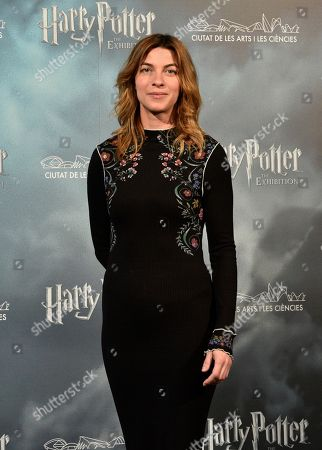 Natalia Tena attends a presser on occasion of the presentation of a Harry Potter movie saga exhibition in Madrid, Spain, 10 April 2019. The exhibit 'Harry Potter: The Exhibition' will be held in Valencia starting 13 April.
