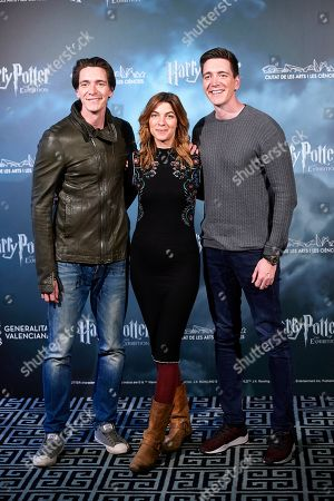 Oliver Phelps and James Phelps and Natalia Tena