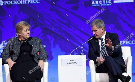 Editorial picture of International Arctic Forum, Expoforum Convention and Exhibition Center, St.Petersburg, Russia - 09 Apr 2019