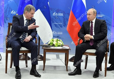 President of the Republic of Finland Sauli Niinisto meets with President of Russia Vladimir Putin