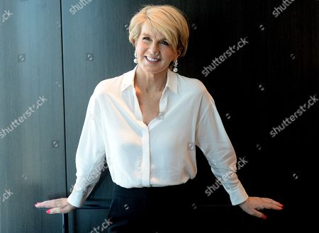 Australian former foreign minister Julie Bishop poses for a photograph at the Witchery and Ovarian Cancer Research Foundation White Shirt Campaign launch in Sydney, New South Wales, Australia, 10 April 2019.