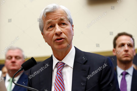 JPMorgan Chase chairman and CEO Jamie Dimon testifies before the House Financial Services Commitee during a hearing, on Capitol Hill in Washington