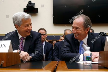 James Gorman, Jamie Dimon. JPMorgan Chase chairman and CEO Jamie Dimon, left, and Morgan Stanley chairman and CEO James Gorman chat before testifying before the House Financial Services Commitee, on Capitol Hill in Washington