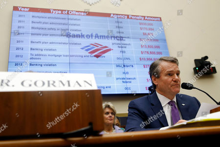 Bank of America chairman and CEO Brian Moynihan testifies before the House Financial Services Commitee during a hearing, on Capitol Hill in Washington