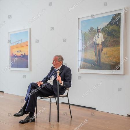 William Eggleston attends his new exhibition 2¼.