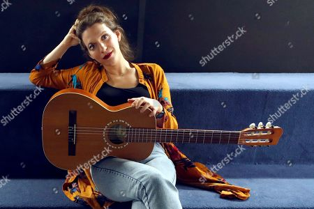 Stock Picture of Luisa Sobral poses during an interview in Madrid, Spain, 10 April 2019. Sobral presented her last album 'Rosa'.