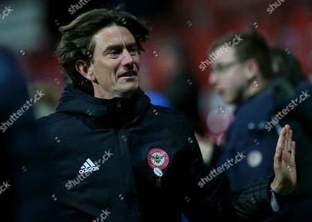 Brentford Head Coach, Thomas Frank during Brentford vs Ipswich Town, Sky Bet EFL Championship Football at Griffin Park on 10th April 2019