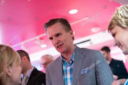 Macy's CEO Jeff Gennette speaks at Story's opening day at Macy's, in New York