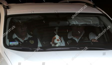 Former Peruvian Pesident Pedro Pablo Kuczynski (inside vehicle) leaves his house, in Lima, Peru, 10 April 2019, after getting arrested by the National Police under a court warrant which orders a ten day detention on alleged corruption charges related to Odebrecht.